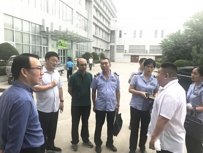 张宏新处长与我公司郑州三片区孙宗勇经理交流